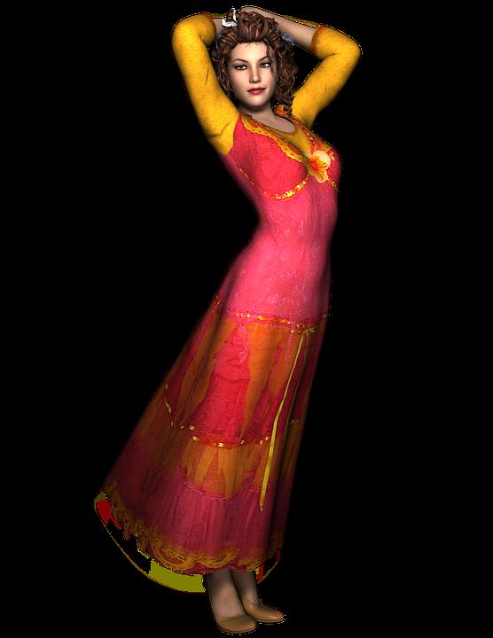 sukienka we wzory etniczne