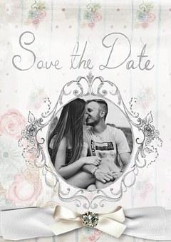 proste zaproszenia ślubne ze zdjęciem