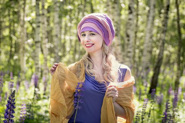 wiskozowy turban na lato